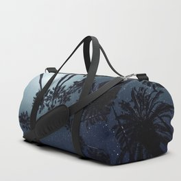 Palm Trees, Night Sky, Stars, Moon Duffle Bag