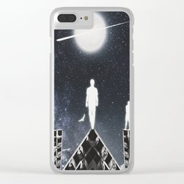 9th JULY - Full Moon Clear iPhone Case