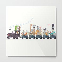 little alphabet train Metal Print
