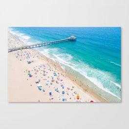 Manhattan Beach Drone Shot Canvas Print