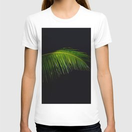 Single Tropical Palm Tree Branch Leaf T-shirt