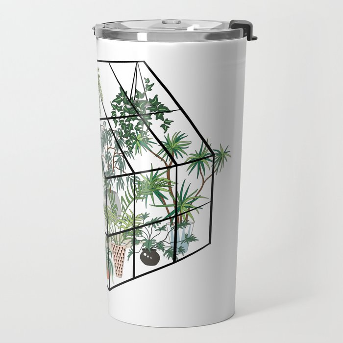 greenhouse with plants Travel Mug