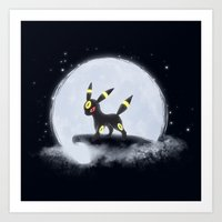 umbreon Art Prints featuring Umbreon by EnaGrapher