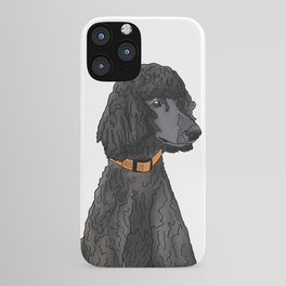 Misza the Black Standard Poodle iPhone Case