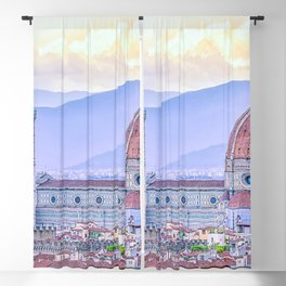 Cathedral of Santa Maria del Fiore  Florence Italy Blackout Curtain