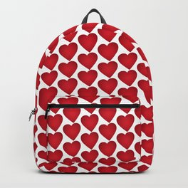 Red heart on white background Backpack