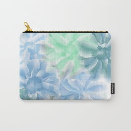 Big Flowers With Blue and Green Carry-All Pouch