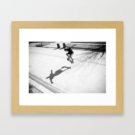 Skateboard Key Framed Art Print