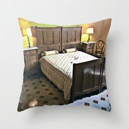 Sardinian bed room Throw Pillow