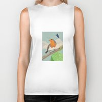 robin Biker Tanks featuring Robin by Carl Conway