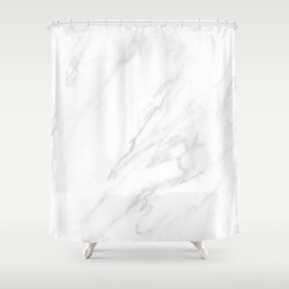 Classic White Marble Shower Curtain