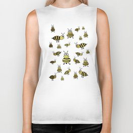 Golden Bees Biker Tank