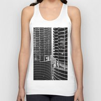 buildings Tank Tops featuring Bertrand's Buildings by NickGerber