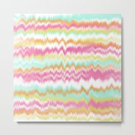 Candy Colored Sound Waves Metal Print