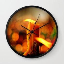 Candles and Prayers Wall Clock