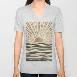 Sun Breeze-Magnolia shade Unisex V-Neck