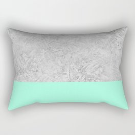 Happy Mint + Frost Rectangular Pillow