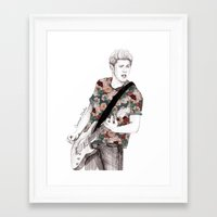 niall Framed Art Prints featuring Floral Niall by Coconut Wishes