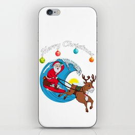 Surfing Merry Christmas iPhone Skin