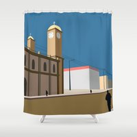 mexico Shower Curtains featuring Mexico by Hanniban