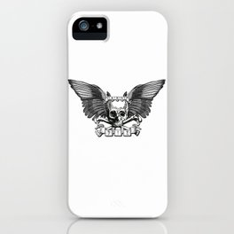 Live/Die Winged Skull iPhone Case