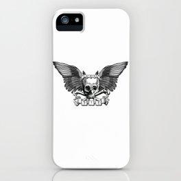 Live/Die Winged Skull iPhone Case