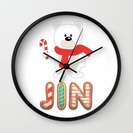 BTS member Jin : Happy Christmas!! Wall Clock