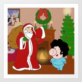 Santa Claus came to town! Art Print