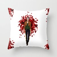 rogue Throw Pillows featuring Rogue by DiegoC