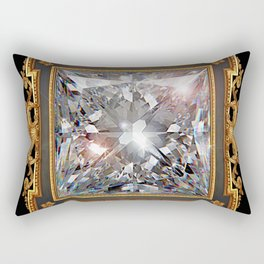 Royal Princess cut Diamond Rectangular Pillow