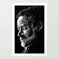 robin williams Art Prints featuring Robin Williams by Campbell Travis