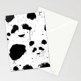 Panda Splatter Stationery Cards