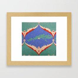BLUE GREEN IZNIKY Framed Art Print