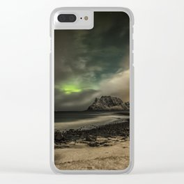 Beach Nightscape Clear iPhone Case