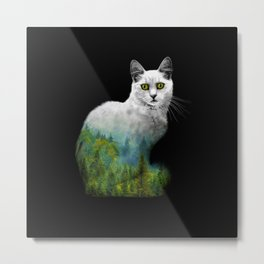Forest in a cat Metal Print