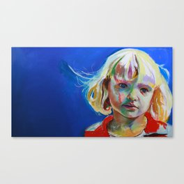 Thoughtful girl. Canvas Print