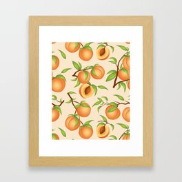 Practice What You Peach - Peach Pattern Framed Art Print