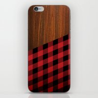 wooden iPhone & iPod Skins featuring Wooden Lumberjack by Nicklas Gustafsson