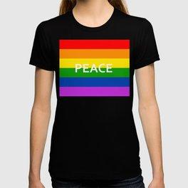 LGBT Pride Flag Peace T-shirt