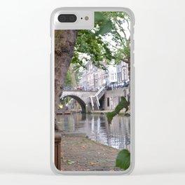 Oudegracht, Utrecht Clear iPhone Case