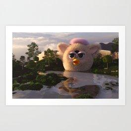 The Longest Furby Art Print