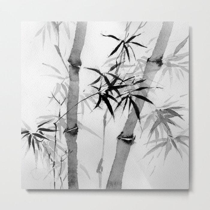 bamboo Metal Print