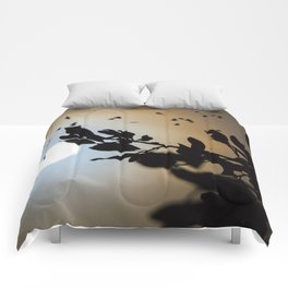 Bats in a Full Moon on Halloween Comforters