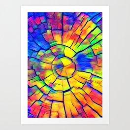 Rainbow Hand of Time Art Print