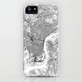 Philadelphia White Map iPhone Case