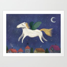 Night Pegasus Art Print