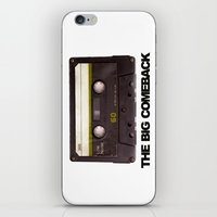 cassette iPhone & iPod Skins featuring cassette by Red Eyes Apparel