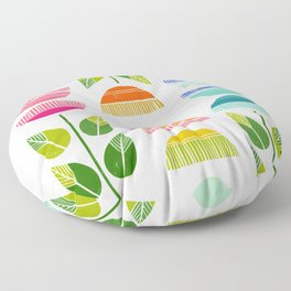 Sugar Blooms - Abstract Retro Inspired Design Floor Pillow