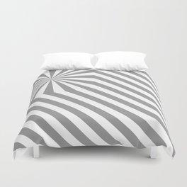 Stripes explosion - Grey Duvet Cover