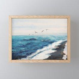 Watercolor Coast Framed Mini Art Print